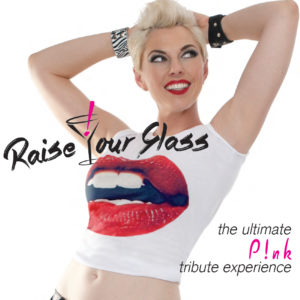 Raise Your Glass – Pink Tribute Band: Digital Brochure Cover